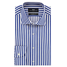 Buy Paul Costelloe Bold Stripe Modern Fit Shirt, Royal Blue Online at johnlewis.com