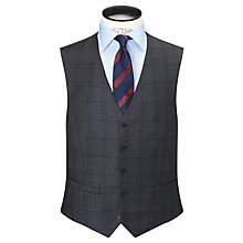 Buy Paul Costelloe Super 110s Wool Windowpane Check Modern Fit Waistcoat, Charcoal Online at johnlewis.com