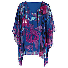 Buy Windsmoor Floral Print Kaftan Top, Blue Online at johnlewis.com