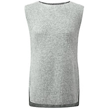 Buy Pure Collection Jermyn Cashmere Tank Top, Heather Grey Online at johnlewis.com