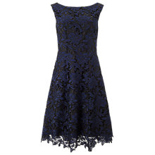 Buy Phase Eight Anouk Lace Dress, Black/Blue Online at johnlewis.com