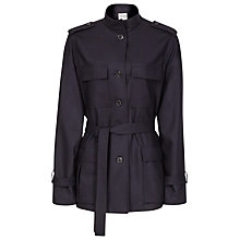 Buy Reiss Wool Via 1971 Belted Jacket, Night Navy Online at johnlewis.com