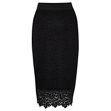 Buy Coast Tullah Lace Skirt, Black Online at johnlewis.com