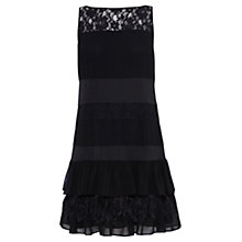 Buy Coast Calista Feather Dress, Black Online at johnlewis.com