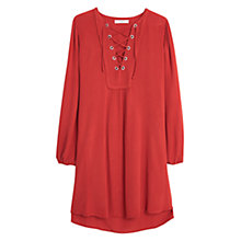 Buy Mango Drawstring Dress, Red Online at johnlewis.com
