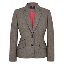 Buy Viyella Petite Wool Blend Herringbone Jacket, Mink Online at johnlewis.com