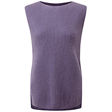 Buy Pure Collection Kempsford Cashmere Tank Top, Smokey Mauve Online at johnlewis.com
