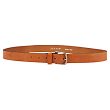 Buy Jigsaw Leather Casual Belt, Tan Online at johnlewis.com