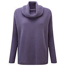 Buy Pure Collection York Cashmere Cowl Neck Jumper, Smokey Mauve Online at johnlewis.com