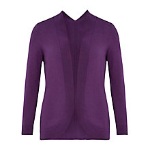 Buy Viyella Petite Curved Cardigan, Purple Online at johnlewis.com