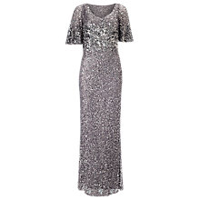 Buy Phase Eight Collection 8 Capella Sequinned Dress, Pewter Online at johnlewis.com