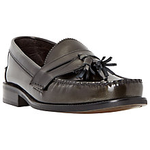 Buy Bertie Reece Tassel Hi-Shine Leather Loafers, Grey Online at johnlewis.com