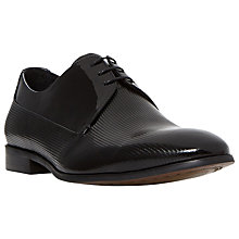 Buy Dune Raphael Contrast Vamp Patent Derby Shoes, Black Online at johnlewis.com