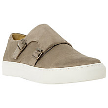 Buy Bertie Bandit Double Buckle Suede Trainers, Grey Online at johnlewis.com