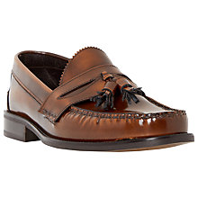 Buy Bertie Reece Tassel Hi-Shine Leather Loafers, Tan Online at johnlewis.com
