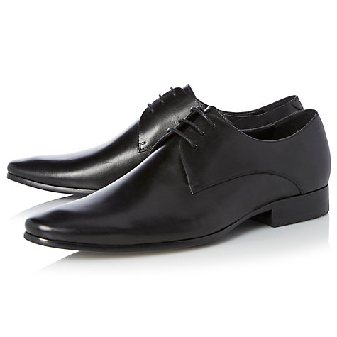 Dune Rick Black Derby Shoe