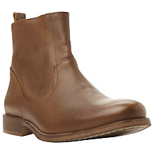 Buy Bertie Corey Side Zip Leather Boots, Tan Online at johnlewis.com