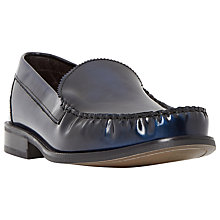 Buy Bertie Royce College Hi-Shine Leather Loafers, Blue Online at johnlewis.com