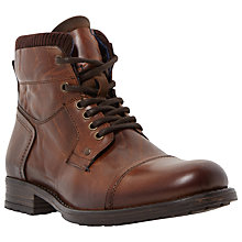 Buy Dune Calabash Leather Lace Up Boots, Tan Online at johnlewis.com