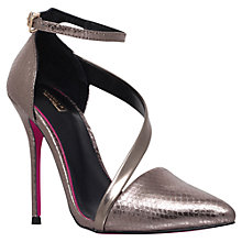 Buy Carvela Autumn Suede Ankle Strap Court Shoes, Pewter Online at johnlewis.com