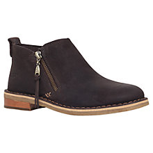 Buy UGG Clementine Flat Heeled Leather Ankle Boots, Brown Online at johnlewis.com