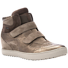 Buy Geox Amarnth Wedge Heeled Trainers, Dove Leather Online at johnlewis.com