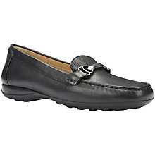 Buy Geox Euro Leather Loafers, Black Leather Online at johnlewis.com
