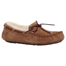 Buy UGG Dakota Suede Moccasin Slippers, Brown Online at johnlewis.com