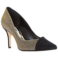 Buy Dune Aleni Pointed Court Shoes, Black Suede Online at johnlewis.com