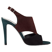Buy Jigsaw Natasha Suede High Heel Sandals, Cranberry Online at johnlewis.com