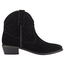 Buy Jigsaw Selby Block Heeled Western Style Ankle Boots Online at johnlewis.com