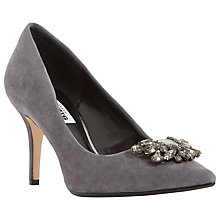Buy Dune Belles Embellished Court Shoes, Grey Suede Online at johnlewis.com