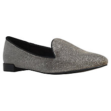 Buy Carvela Maisy Low Heeled Slip On Loafers, Bronze Fabric Online at johnlewis.com
