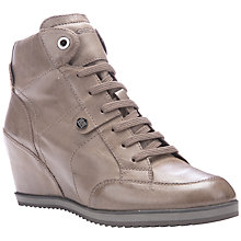 Buy Geox Illusion Wedge Heeled Lace Up Trainers Online at johnlewis.com