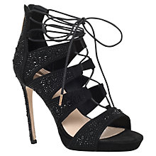 Buy Carvela Grape Lace Up High Heeled Stiletto Sandals, Black Online at johnlewis.com