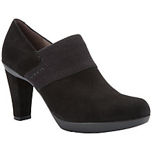 Buy Geox Inspiration Block Heeled Shoe Boots, Black Suede Online at johnlewis.com