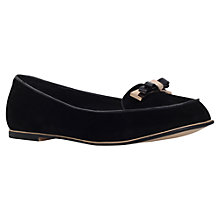 Buy Miss KG Mirror Flat Heeled Slip On Loafers, Black Online at johnlewis.com