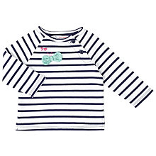 Buy John Lewis Baby Stripe 3D Butterfly Sweater, White/Navy Online at johnlewis.com