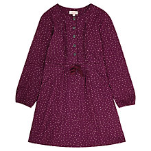 Buy Jigsaw Junior Girls' Jersey Spot Print Dress, Plum Online at johnlewis.com