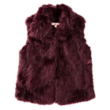 Buy Jigsaw Junior Girls' Fluffy Faux Fur Gilet Online at johnlewis.com