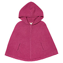 Buy Jigsaw Junior Girls' Hooded Poncho, Plum Online at johnlewis.com