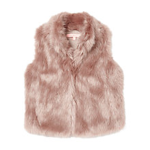 Buy Jigsaw Junior Girls' Fluffy Faux Fur Gilet, Mink Online at johnlewis.com