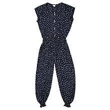 Buy Jigsaw Junior Girls' Queen Of Hearts Jumpsuit, Navy Online at johnlewis.com