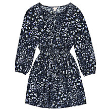 Buy Jigsaw Junior Girls' Floral Print Woven Dress, Blue Online at johnlewis.com