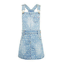 Buy John Lewis Girls' Star Denim Pini Dress, Blue Online at johnlewis.com