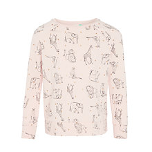 Buy John Lewis Girls' Animal Print Sweatshirt, Pink Online at johnlewis.com