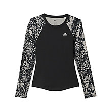 Buy Adidas Techfit Climawarm Long Sleeve Training Shirt, Black Online at johnlewis.com