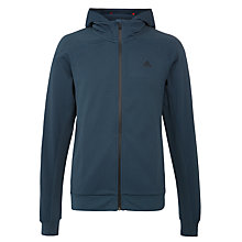 Buy Adidas Stronger Full Zip Training Hoodie, Midnight Grey Online at johnlewis.com