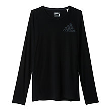 Buy Adidas Authentic Long Sleeve Training T-Shirt, Black Online at johnlewis.com