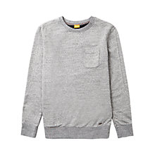 Buy BOSS Orange Wenelow Jersey Top, Light Pastel Grey Online at johnlewis.com